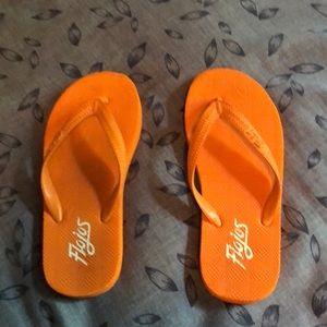 Flojos Orange Rubber Flipflops